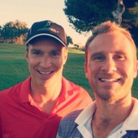 Garlin with Scott Dawley, Exec Director of Speedgolf International