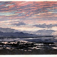 Late Summer Sunset at Saltair - $400