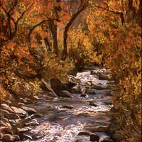Big Cottonwood Creek--Late October - sold