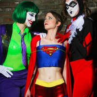 Joker, Harley, and Superboobs