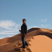 Atop dune in Erg Chebbi