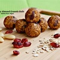 Cranberry Almond Granola Balls