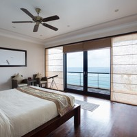 Ocean views from private, luxury bedroom in South Bali