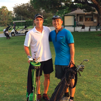 Fun early morning 9 with TripFIlms CEO and friend Tony Cheng, August 12th, 2014