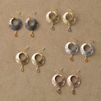 ■  唐草 サファイアピアス  ■ arabesque pierced earrings with sapphire