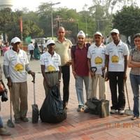 Litter-Free Campaign team at Pragati Maidan during Indian International Trade Fair (IITF), 2012