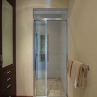 Bathroom in luxury beachfront villa for rent in Nusa Dua, South Bali