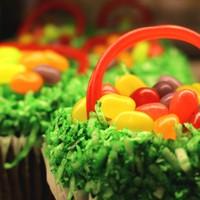 Chocolate Easter Basket Cupcakes