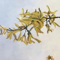 Blossoms on Grey - Forsythia I SOLD