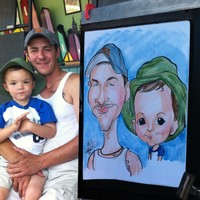 Double Color Face Caricature