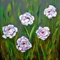 Cinco Flores Rosas