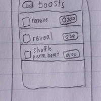 Boost Screen (sketches)