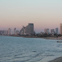 City view at sunset, from Jaffa