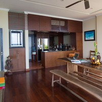 Open Kitchen and Dining area in luxury 3 bedroom pool villa in Nusa Dua