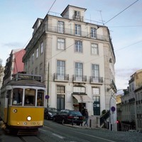Tramway in old - Lisboa, Portugal - 2012