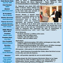 Magazine Marhaba of Rotary Beirut Cosmopolitan (June 2014)