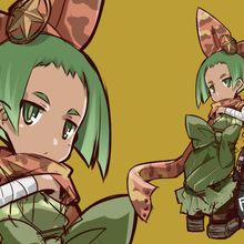 とあるゲームの企画の際に描いたラフ。時代設定は昭和初期、三姉妹の三女です。