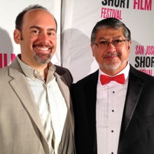 Carl Strecker and Sinohui Hinojosa of EAP Creative and the San Jose International Short Film Festival