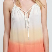 Sunset dip dye dress manufactured for Creme Fraiche