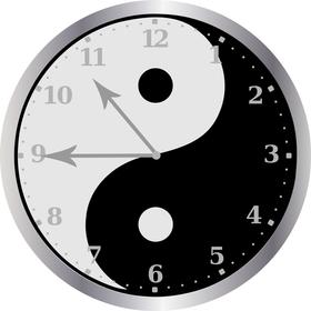 Yin-Yang Clock Face