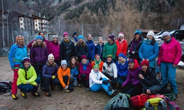 Women of Cogne Ice Opening 2015