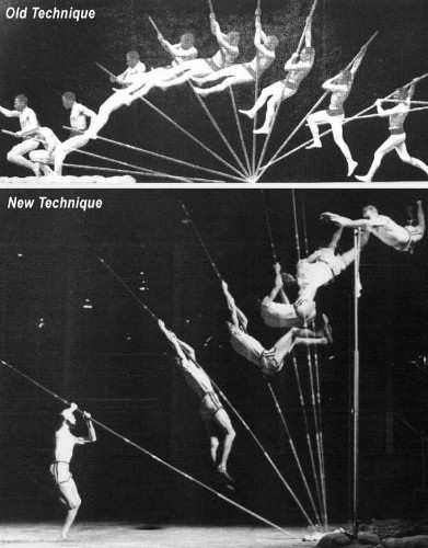 pole vaulting technique changed over time, leading by example