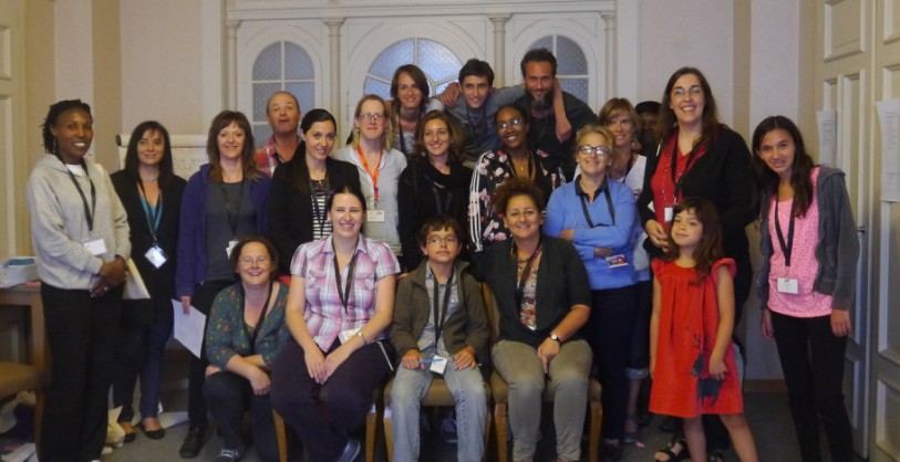 On the same team: Improving communication between adults and children to enhance participation. Whole group photo.