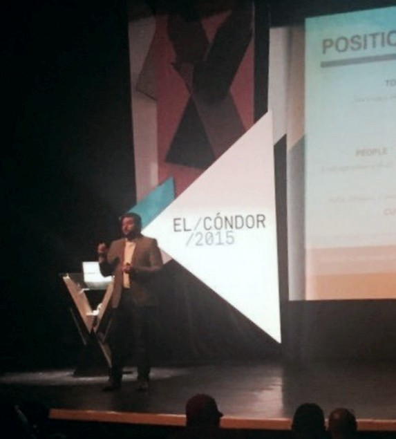 El Condor 2015 Ecuador Keynote speaker with a presentation about Country Brands and Entrepreneurship in the renewed El Condor Festival in Ecuador. Other participants includes Paola Aldaz from The Coca Cola Company, Álvaro Becker from Y&R Chile, Mike Ruiz from Bombay México, among others.