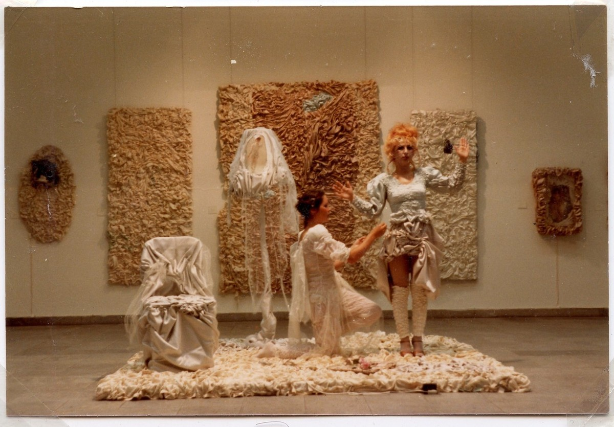 Colette retrospective. Opening performance. 1981. Munster kunstverein. curated by Thomas Deecke