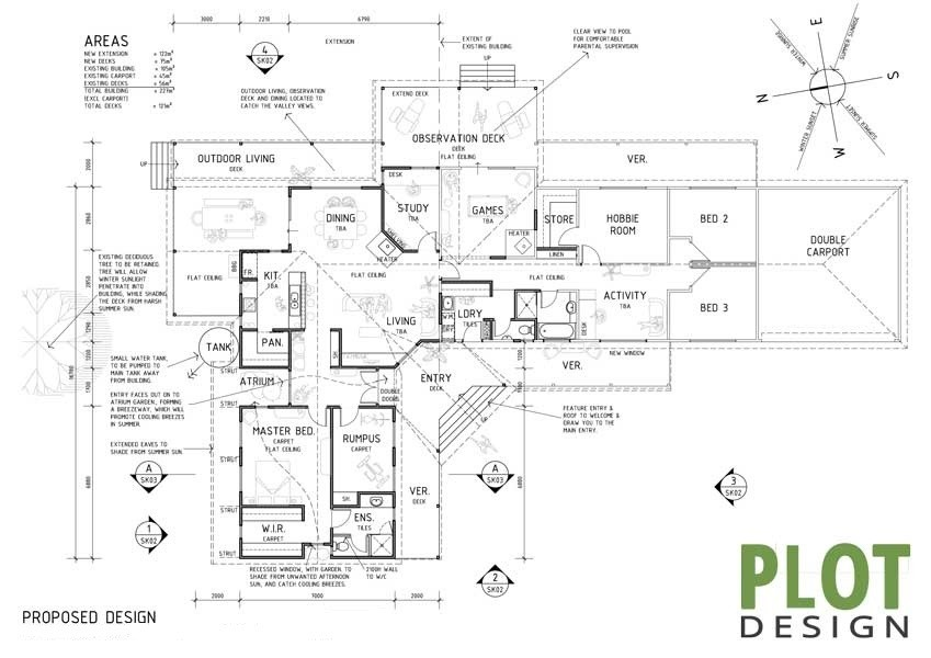 Plot Design : Building Design & Drafting Services : Gidgegannup Building Extension