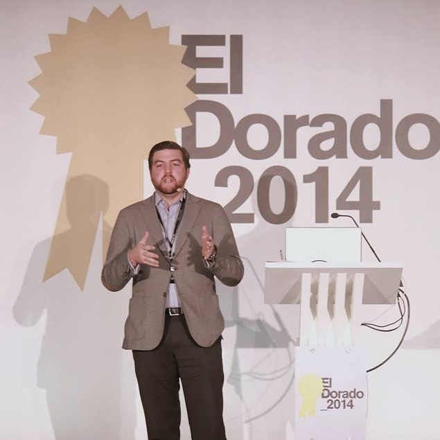 El Dorado 2014 Colombia Keynote speaker and member of the International Jury, chaired by Fernando Vega Olmos, determining the award-winning entries in El Dorado Festival in Colombia. Other keynote speakers included David Droga from Droga5, Michael Conrad from the Berlin School of Creative Leadership, and Senta Slingerland from Cannes Lions Festival.