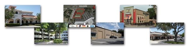 Collage of various types of commercial properties that Quest Company has managed, leased and/or sold over the years.