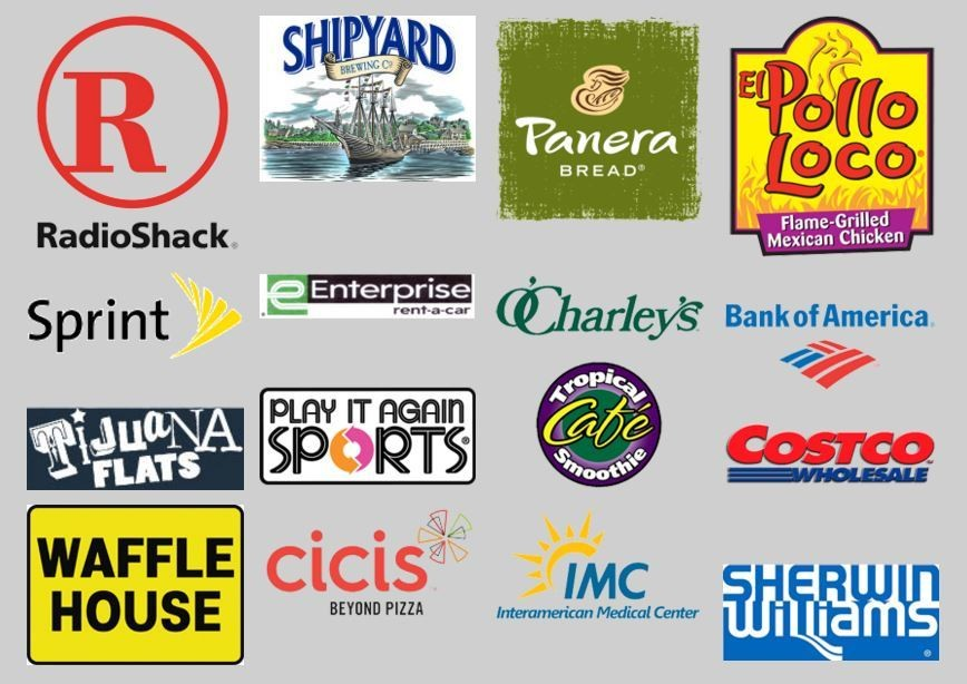 Collage of logos for those companies that Quest Company has been honored to represent over the years.