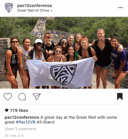 Pac-12 Conference All-Star Volleyball Team tours the Great Wall