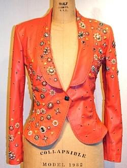SISSY CORAL LEATHER JACKET