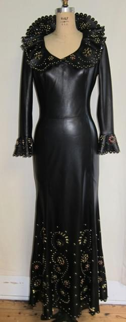 Lauren Henton Black Leather dress