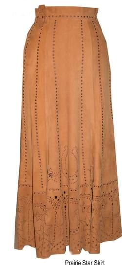 PRAIRIE STAR SUEDE SKIRT