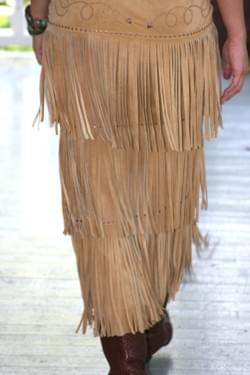 TETON FRINGE SKIRT, BACK VIEW