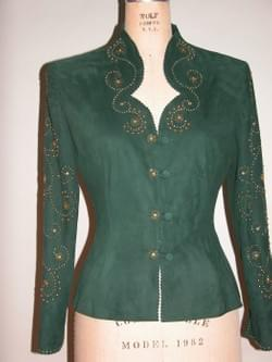 FANCY GLITZ  SUEDE BLOUSE