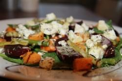 roast winter veg salad