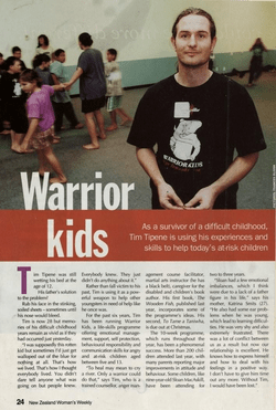 Tim Tipene and Warrior Kids