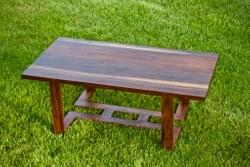 Low rectangle walnut table