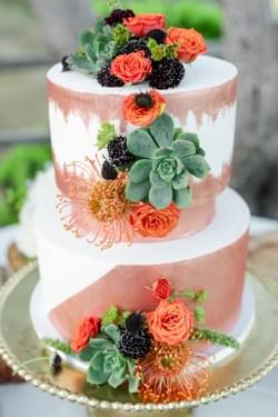 Event Design-succulent wedding cake