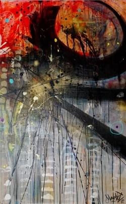 canvas,160x100cm, acrylic, ink mix