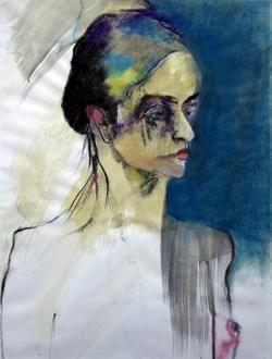 The girl with white lashes (50x40)