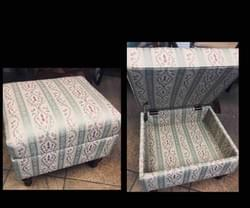 Reupholstered Storage Ottoman
