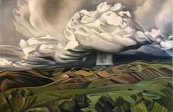 Boise Front Spring Thunderhead 30x45 oil and wax on linen
