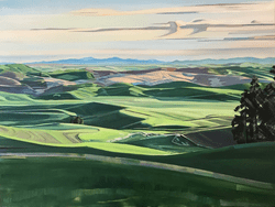 "The Palouse from Kamiak Butte 36""x48"" oil and wax on linen"