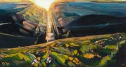 Bogus Basin Summer Solstice 11x20 oil and wax on panel