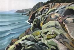 Pacific Coast Near Muir Beach, Oil and Wax on Linen
